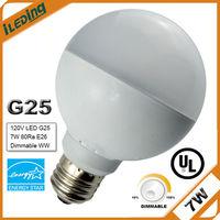 120V ETL LM80 LED Globe Light Bulbs E26 base E26 G25 Dimmable