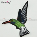 Keering Small size Personalized Hummingbird Embroidery Beaded Applique Patches WEFC-014