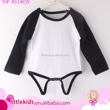Infant Baby Boys Girls Raglan Baseball Knit Cotton Long Sleeve Romper Blanks Creeper / Onesie / Bodysuit New Born Baby Names