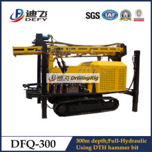 DFQ-300 300m deep water well drilling rig machine--DTH bits and DTH hammer