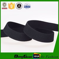Wholesales Black Custom Woven Twill Polyester Elastic Tapes