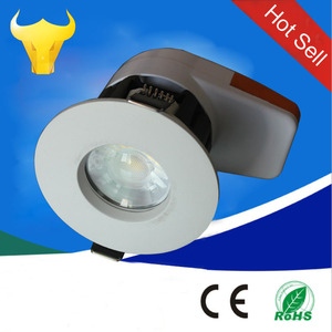 IP65 fire acoustic rated 8w dimmable and changeable CCT fire rated downlights