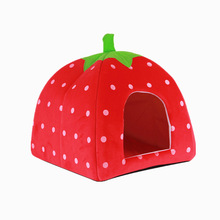 Taobao explosion models strawberry nest spot wholesale special Teddy kennel pet nest kennel - three-piece