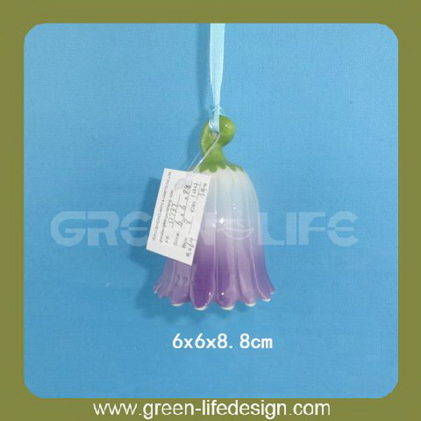 Ceramic hanging flower mini wind chimes