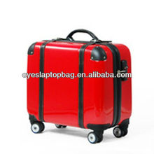 17 inch fashion vogue abs / pc trolley luggage bag with tsa lock
