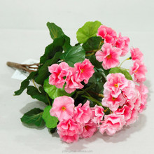 New Arrival Potted Pink Begonia Bush Artificial Silk Flowers Bonsai
