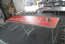 Beautiful PP Printing once fold Beerpong Table