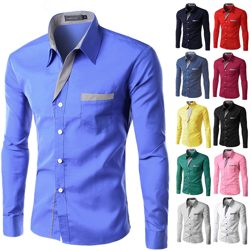 MOON BUNNY Brand New Mens Formal Business Shirts Casual Slim Long Sleeve Dresse Shirts Camisa Masculina Casual Shirts Asian Size