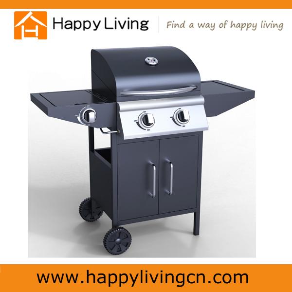 2 bruciatori a gas barbecue grill barbecue a gas portatile forno con bruciatore laterale - Barbecue portatile a gas ...