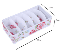 Store More Collapsible Bra Closet Drawer Divider 6 Set Underwear Storage Boxes