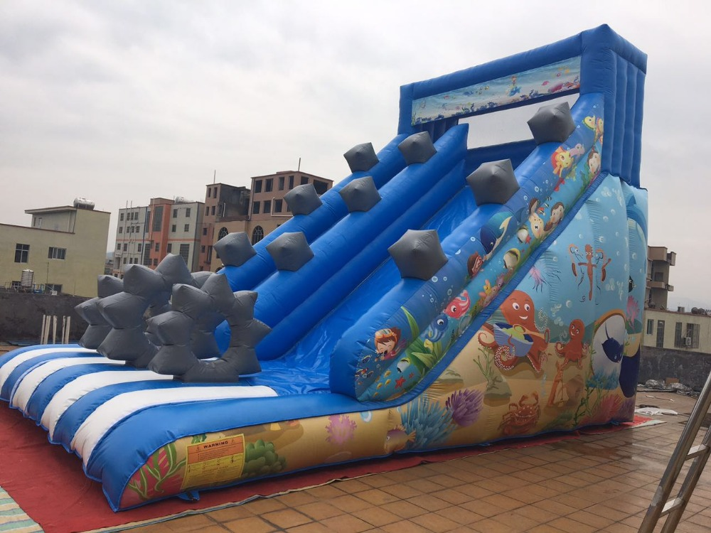 2017 new design cheap inflatable slide playground equipment used inflatable water slide for sale