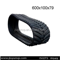 Replacement Manufacture in China hitachi ex60 rubber track,rubber belts size 600x100x79