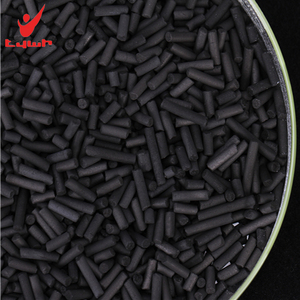 Coal based cylindrical activated carbon for exhaust gas treatment