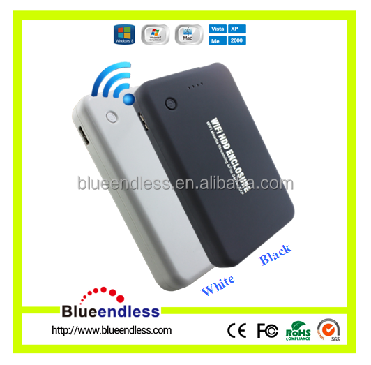 Blueendless Network Hard Drive Case 2.5 inch WiFi HDD Enclosure