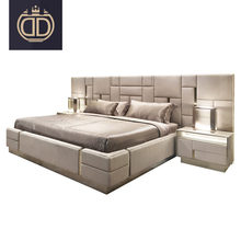 Italian Latest Double King Size Bed Bedroom <strong>Furniture</strong> Modern Luxury Micro Fiber Leather Bed Room <strong>Furniture</strong> Bedroom Set