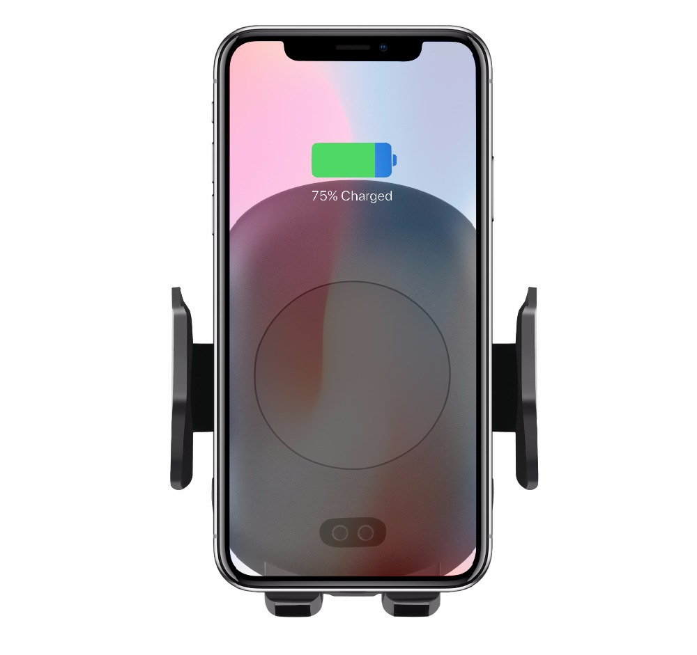 2 in 1 Infrared Fully Automatic 10W C9 <strong>C10</strong> Auto-sensor Car mount Wireless phone Charger Adjustable Gravity Air Vent Phone Holder