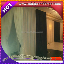 ESI hot selling red stage curtain for sale/adjustable pipe and drape for wedding /wedding drapery support