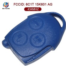 AK018038 blue smart car key for Ford Transit 3 Button Remote Key 434MHZ 4D63 - 6C1T 15K601 AG Original size