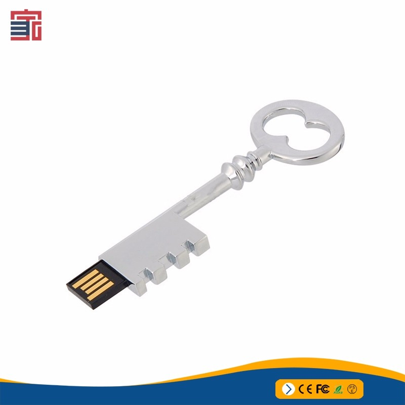 Promotional Key USB Free Logo USB key shape 16GB