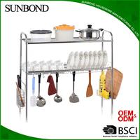 Stainless Steel Over the Sink Drainer Dish Rack Ktichen Storage Organizer Dish Rack