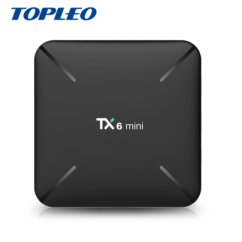 Topleo Factory outlets cheap price TX6 mini 2GB 16GB Allwinner H6 OTA <strong>auto</strong> update android 9.0 tv box