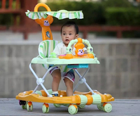 2017new sample baby walker for sit-to- stand,multi functions baby carriage, multi colors baby walkers