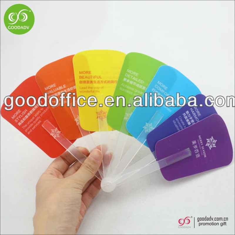 Hot selling summer advertising gifts foldable pp hand fan for promotional