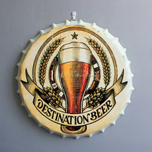 3D wholesale Vintage Beer Bottle Cap Wall Decoration Innovative Mural Wall Hanging for Home, Bar, Cafe