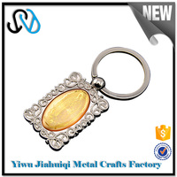 Hot selling production gifts custom leather keychain wholesale / ring for keychain