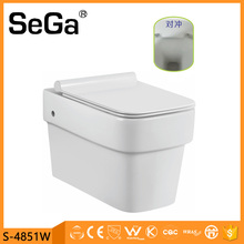 S-4846W Bathroom design sanitary china manufacturer ceramic hang wc commode
