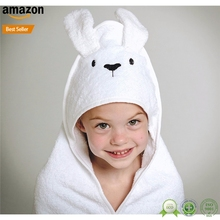 Aliexpress China kids hooded bath towels wraps for toddlers made in China