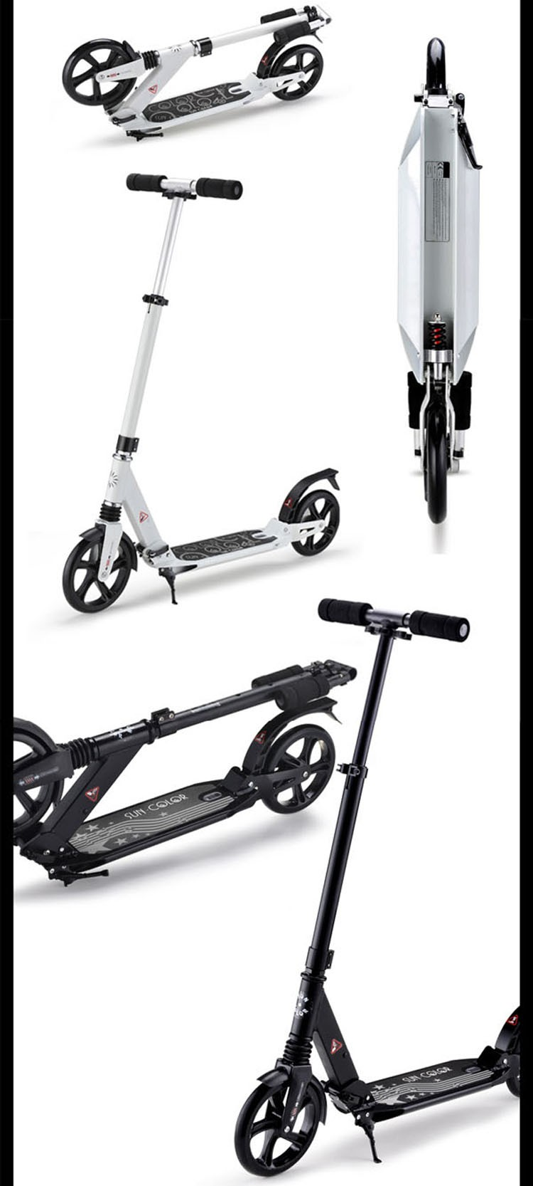 Hot selling full aluminum two big 200mm wheel kick scooter