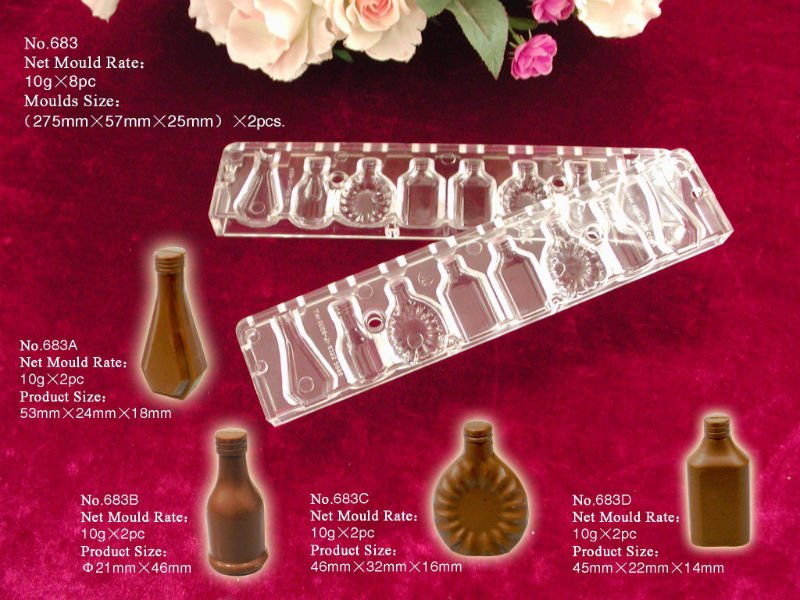 DIY plastic chocolate mould F683