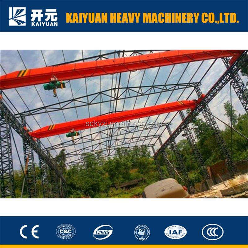 Hot news! Kaiyuan 10t trolley crane with overhead hoist type to match your requirement