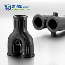 Y-shaped TPE Rubber Cable Protection Plastic Pipe Connector