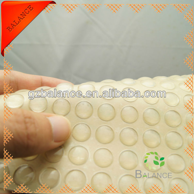 Sticky transparent round small rubber bumpers