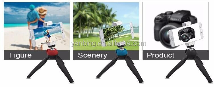 High-quality popular mini plastic tripod for Phone DSLR Camera with different colors