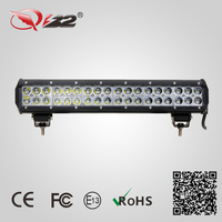 Super bright 17.2inch 6000K waterproof 108W coated crossover suv off road led light bars