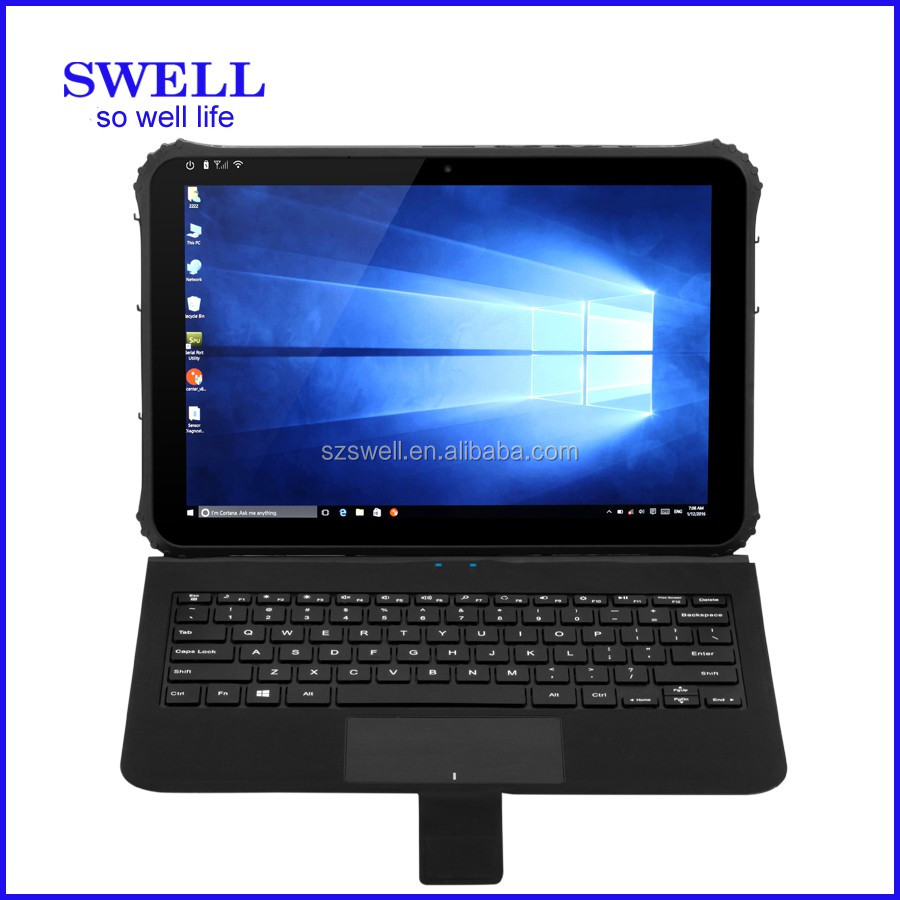 SWELL I22H big size ruggedized tablet industrial use window tablet with rfid reader android tablet with wall mount