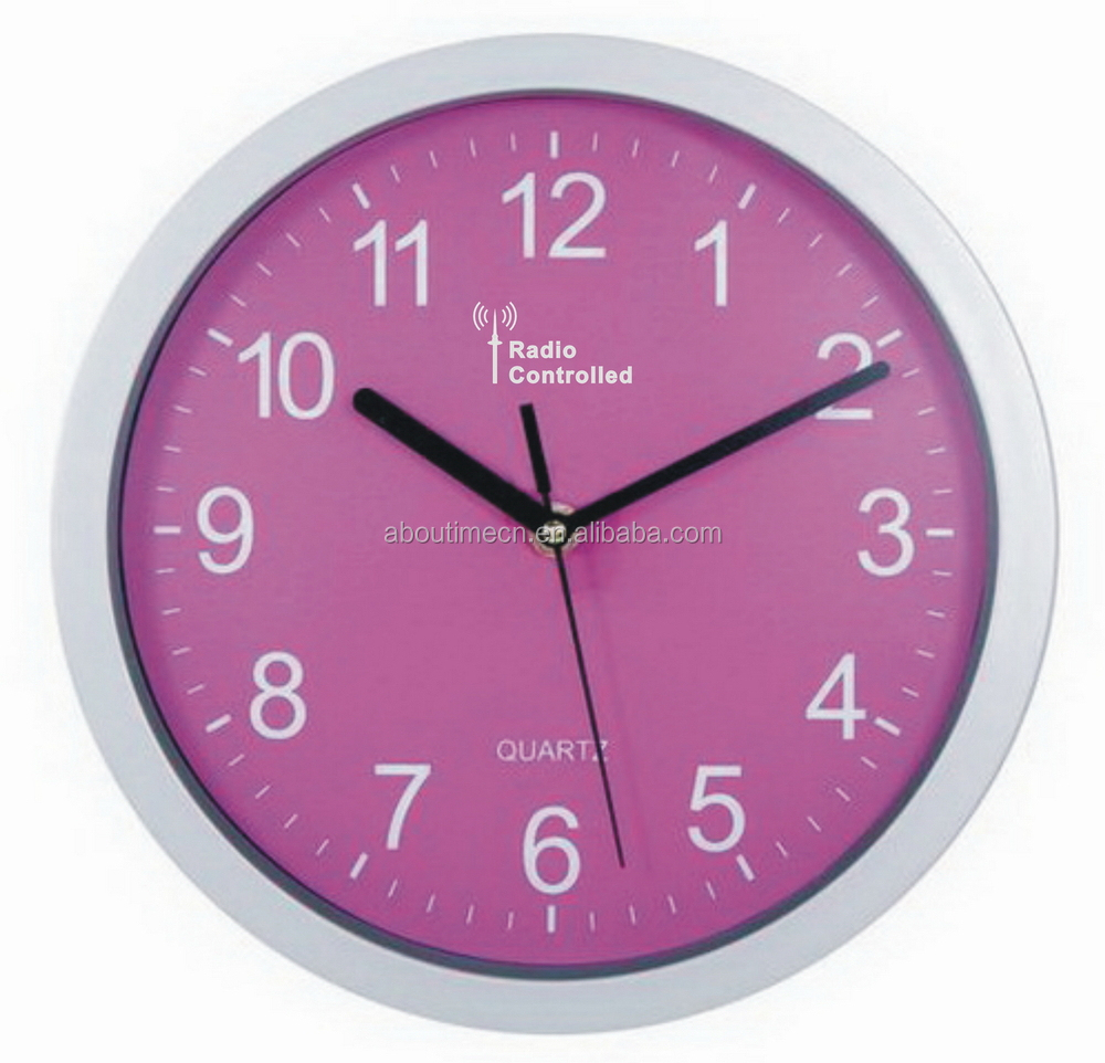 2013 new products radio controlled wall clock/day night clock on market