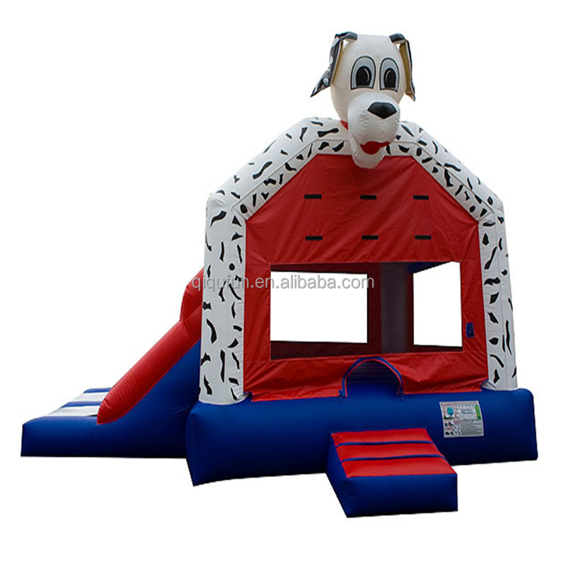 2 in1 Dalmatian Bouncy Castle, Inflatable Dog Bouncer House