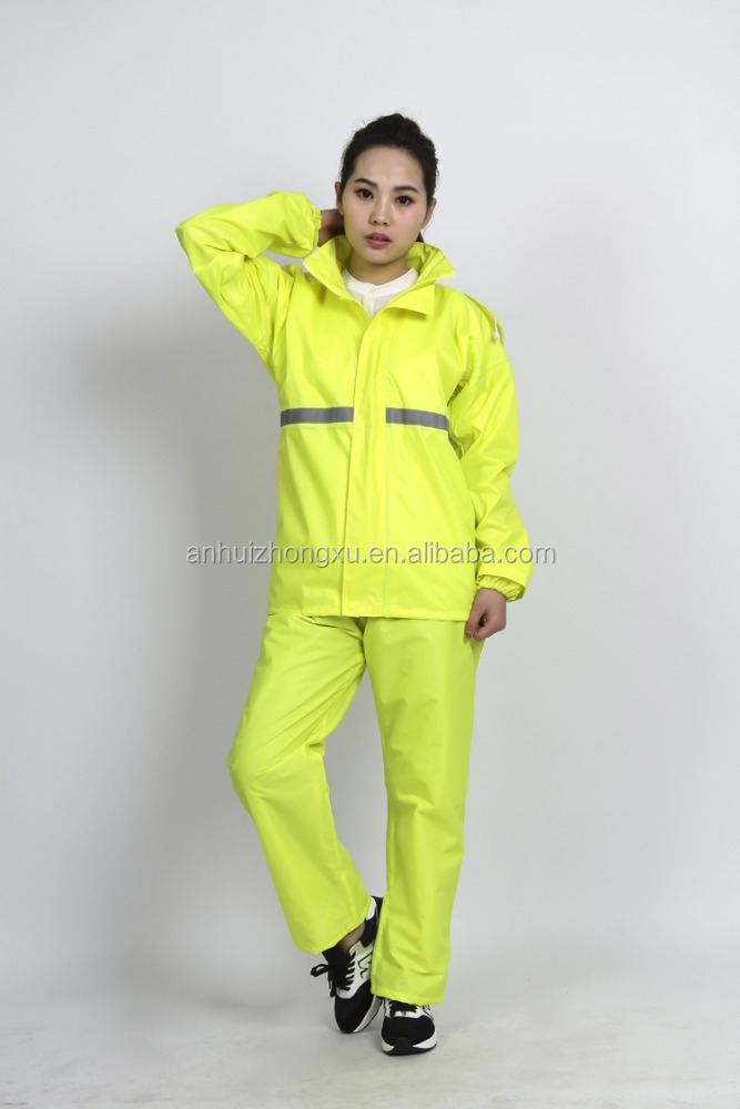 Polyester raincoat,rain suit,rainwear