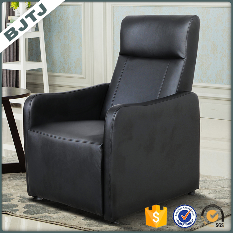 BJTJ Shining Grey Leather Design Affordable Price One Seat Recliner Sofa 70183
