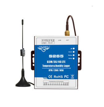 GSM SMS Temperature Humidity Data Logger Alarm GPRS Timer Reports Modbus TCP, TCP/IP Protocol S265