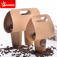 Take out disposable portable insulated drink hot cup holder