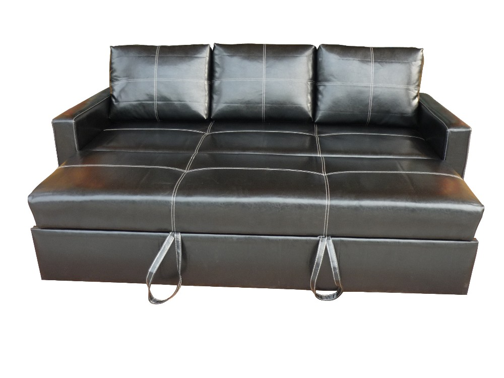 Leather Modern Pull Out Sofa Bed Buy Pull Out Sofa Bed Wooden Leather Cover Sofa Futon Leisure