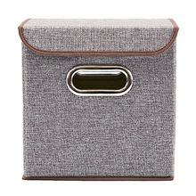 China Non Woven Line Canvas Fabrics Storage Basket For Shelf
