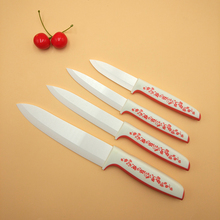 HX-TD16 ceramic knife set 4 pcs dark white handle knife