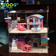 Big cheap pink acrylic hamster activity cage for small animals