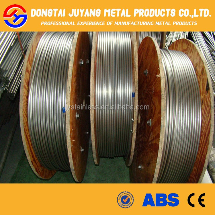 ASTM 304 316 From China factory Stainless Steel Welded seamless coiled tubing